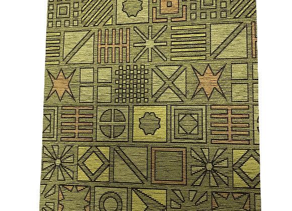 Tappeto Passatoia Verde forme geometriche al taglio al metro