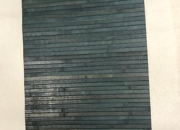 Passatoia In Bamboo Blu Petrolio antiscivolo al taglio al metro