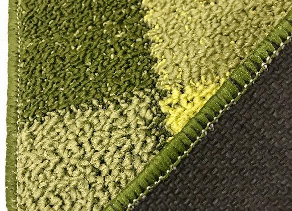 Tappeto Passatoia Quadrati verde al taglio al metro