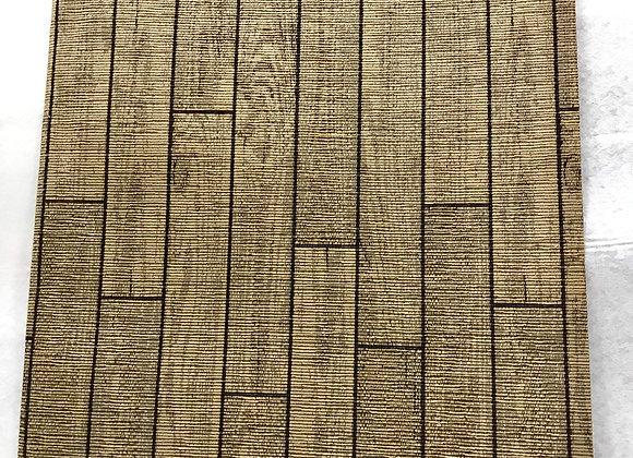 Tappeto Passatoia Marrone effetto piastrelle legno al taglio al metro