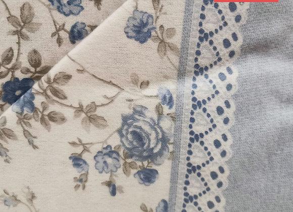 Completo Letto Flanella Floreale azzurro