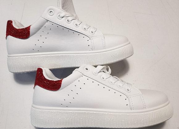 Copia di Sneakers bianche glitter rossi