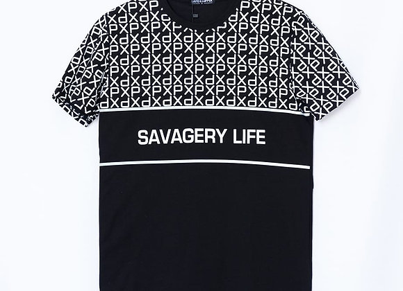 T-shirt stampa SAVAGERY LIFE
