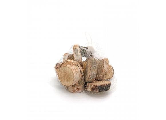 Sacchetto dischetti di legno 150 grammi