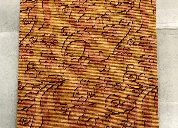 Tappeto Passatoia Arancione Bordeaux fiori al taglio al metro