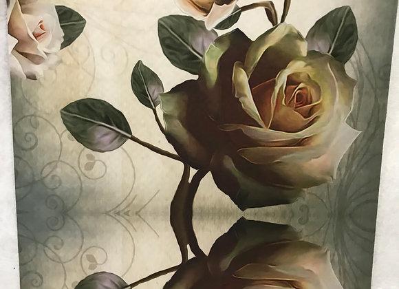 Tappeto Passatoia Beige Grigio rose antiche al taglio al metro