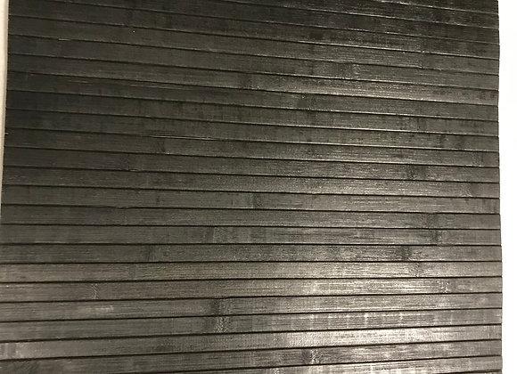 Passatoia In Bamboo Nero antiscivolo al taglio al metro