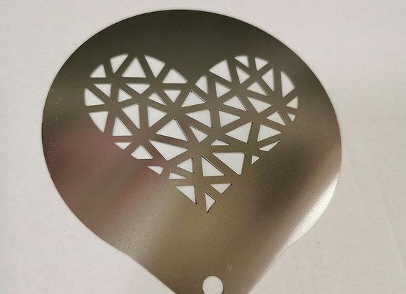 Stencil cuore cappuccino