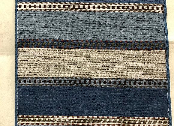 Tappeto Passatoia Fasce blu beige al taglio al metro