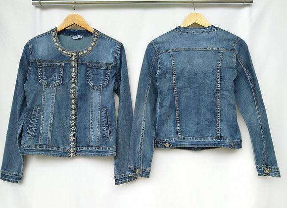 Giacca di jeans con perle