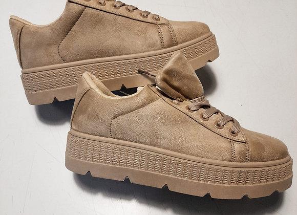 Copia di Sneakers plateau suede ecru