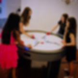 4-Person Air Hockey | Long Island Event Rentals | Redmax Events LLC | Mitzvah Games
