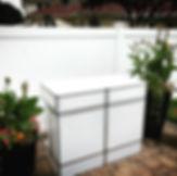 4 Foot White Acrylic Bar Rental | Long Island | Redmax Events