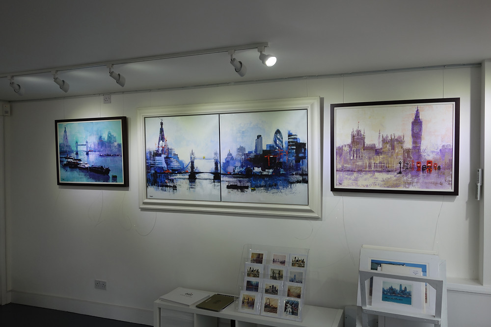 My show in a Brighton gallery.
