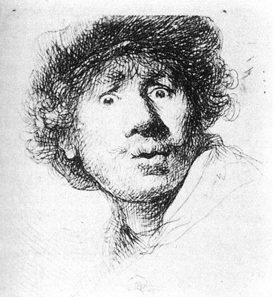 Rembrandt. Self portrait.