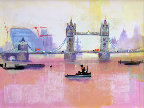 'TOWER BRIDGE MID-DAY' by Colin Ruffell