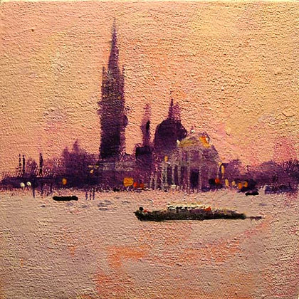 VENICE - VIEW ONE  signed greetings card