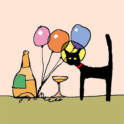 CAT AND BALLOONS