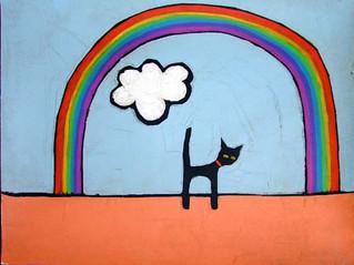 BLACK CATS AT HALLOWEEN....
