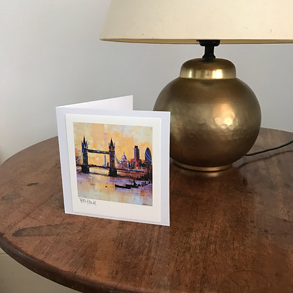 COLOURS OF LONDON signed greetings card
