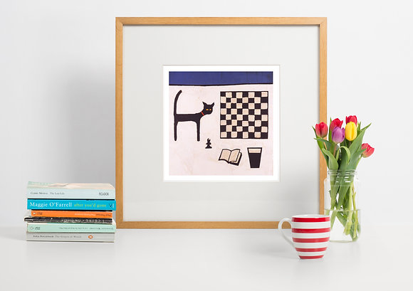 CAT AND CHESSBOARD