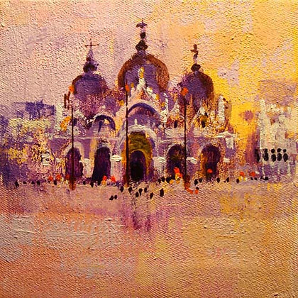 VENICE - VIEW TWO signed greetings card