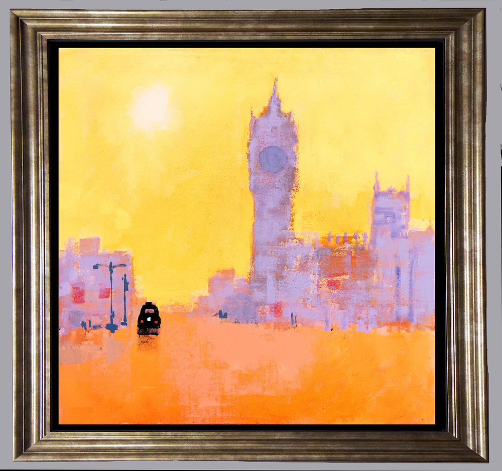 Black Cab in Gold Frame