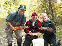 Fish crew with big browns fall 2003 .JPG