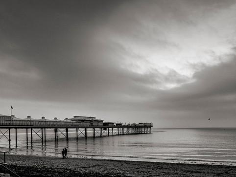 Paignton Pier before sunrise