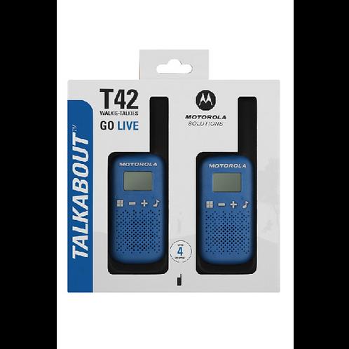 Motorola Talkabout T42 Blue Twin Pack