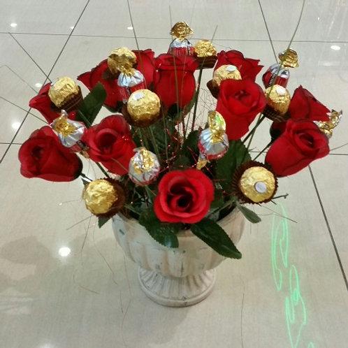 סידור פרחים ומתוקים