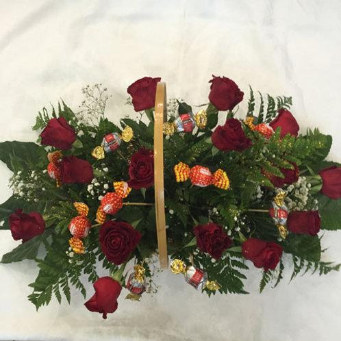 סלסלת ורדים מתוקה