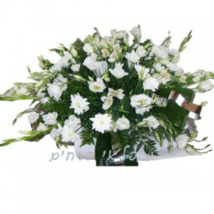 סידור גדול פרחים לבנים
