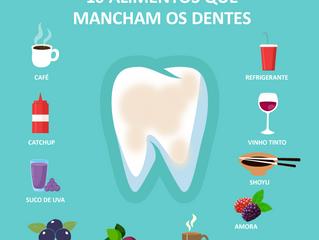10 alimentos que mancham os dentes.