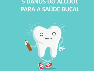5 danos do álcool para a saúde bucal