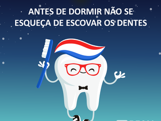 Escove os dentes.