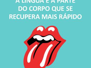 A língua...