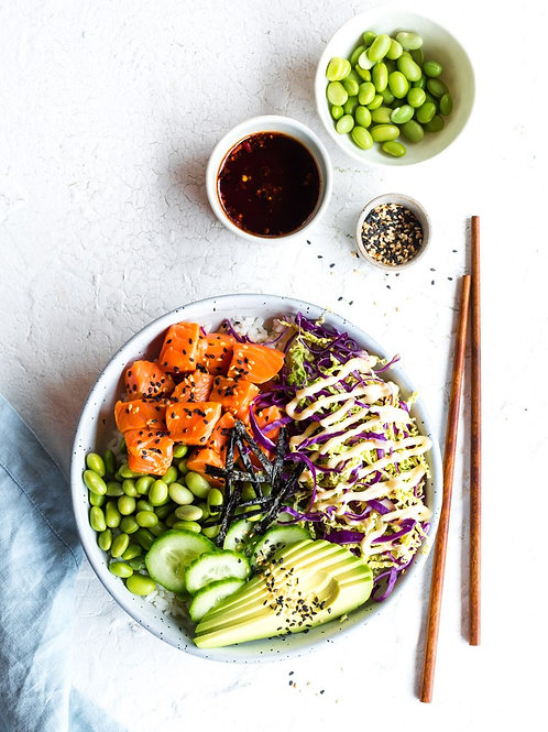 TAKEAWAY THURSDAYS #4 - 27 AUG: Poke Bowl - Salmon OR Spiced Tofu (VGO)