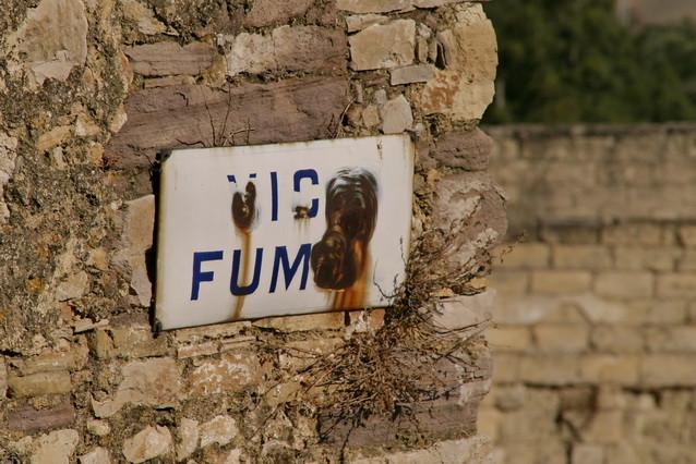 Craco Vero, Basilicata Italia vicolo Fumo