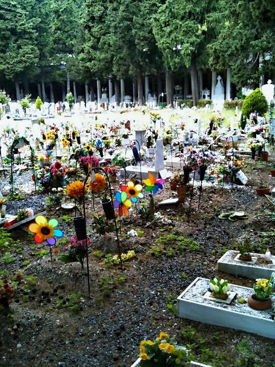 Sepolture di bambini, Cimitero Monumentale di Staglieno, Genova.