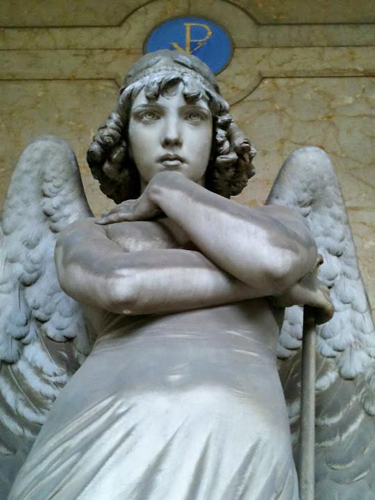 Angelo della morte di Giuglio Monteverde, Cimitero di Staglieno, Genova.