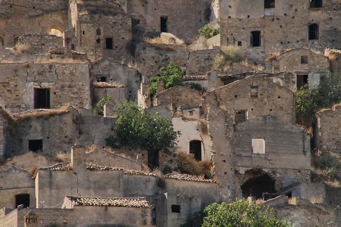 Craco Vero, Basilicata Italia, case abbandonate