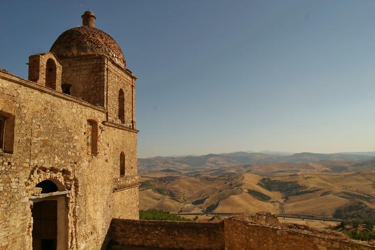 Craco Vero BAsilicata Italia: Viste sui calanchi.