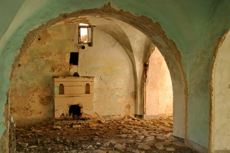 Craco Vero, Basilicta, Italia: interno di casa antica