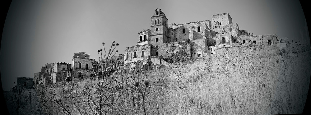 Craco Vero, Basilicata Italia.