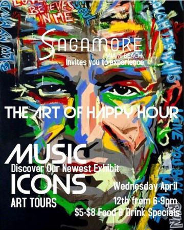 Music Icons Art Tour at Sagamore South Beach - 04/12/2017