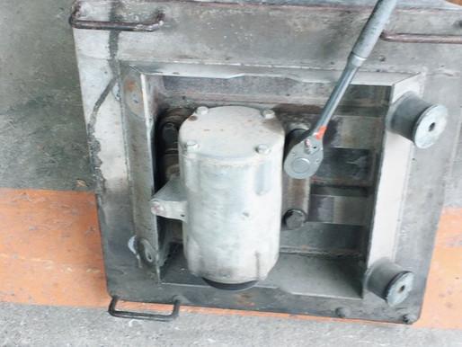 三笠MVC75の底板交換