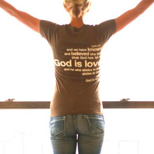 1 John 4:16 Slim-fit Women's Tee