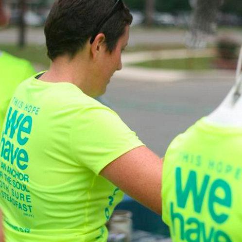 Hebrews 6:19 Nike Race Shirt Women's Cut