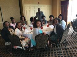 Warren with the ladies of CGLA